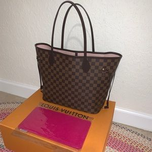 Louis Vuitton Neverfull MM 2020 Damier ebene PINK